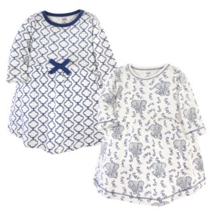 Touched by Nature Baby Girl Long Sleeve Organic Dress 2 Pack