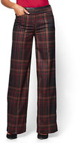 New York & Co. 7th Avenue - Faux-Leather Trim Wide-Leg Pant - Petite