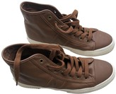 Polo Ralph Lauren Camel Leather Trainers