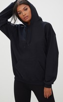 PrettyLittleThing Black Ultimate Oversized Hoodie