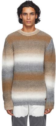 Golden Goose Beige and Grey Degrade Sweater