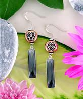 Katherine Winters Women's Earrings SILVER - Hematite & Sterling Silver Cardi Drop Earrings