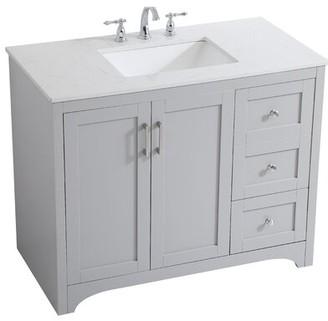 "Beachcrest Home Philippa 42"" Single Bathroom Vanity Set Base Finish: Gray"