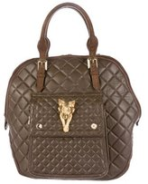 Burberry Quilted Leather Fox Tote