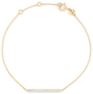 Kendra Scott River Chain Bracelet in White Diamonds and 14k Gold