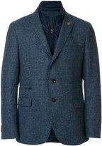 Paoloni hybrid layered blazer