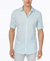Alfani Men's Slim-Fit Striped Short-Sleeve Shirt, Only at Macy's