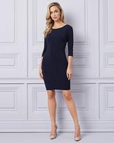 Le Château Knit Open Back Cocktail Dress