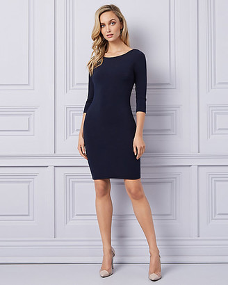 Le Château Knit Open Back Cocktail Dress