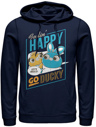Fifth Sun Sweatshirts and Hoodies NAVY - Toy Story Navy Ducky & Bunny 'Happy Go Ducky' Hoodie - Adult