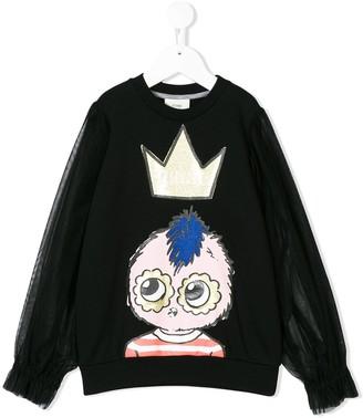 Fendi Sheer Sleeves Sweatshirt
