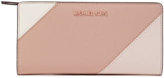 MICHAEL Michael Kors Logo-appliqued Two-tone Leather Wallet