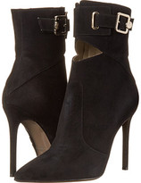 Versace Pointed Toe Peek A Boo Ankle 100mm Bootie