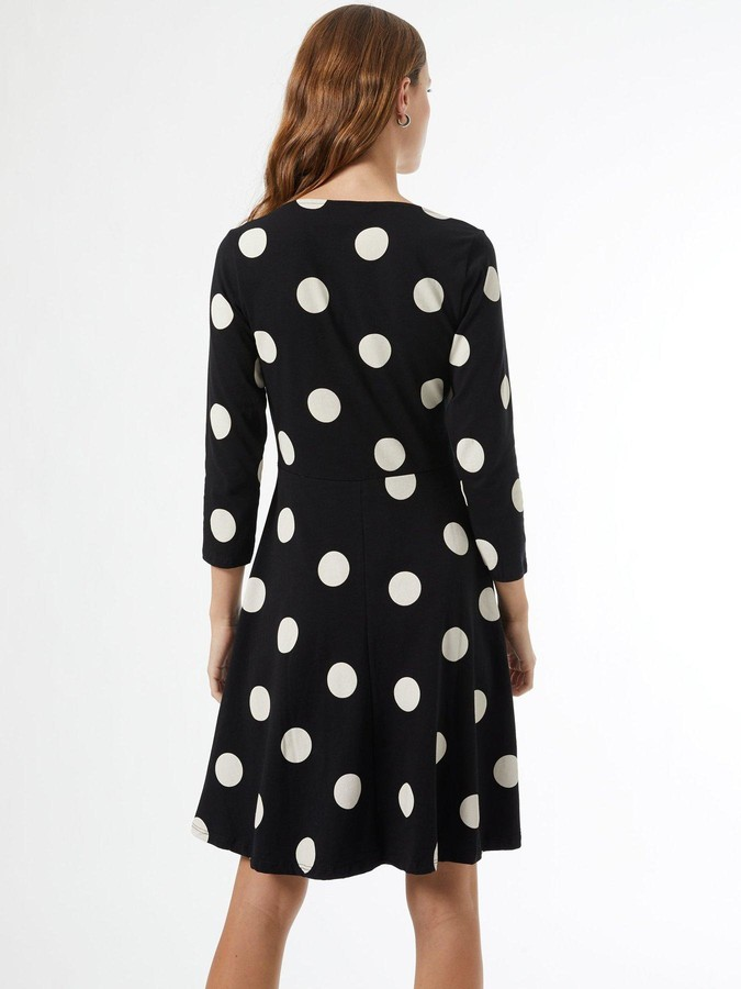 Thumbnail for your product : Dorothy Perkins SpotPrint Ruched Front Dress - Black