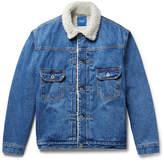 Beams Faux Shearling-Lined Denim Jacket