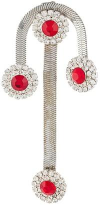 Christopher Kane Crystal Flower Drop Earrings