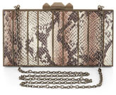 BCBGMAXAZRIA Estela Python Faux-Leather Clutch