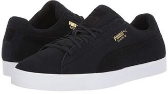 Puma Golf Suede G Patch LE Black Black) Men's Golf Shoes
