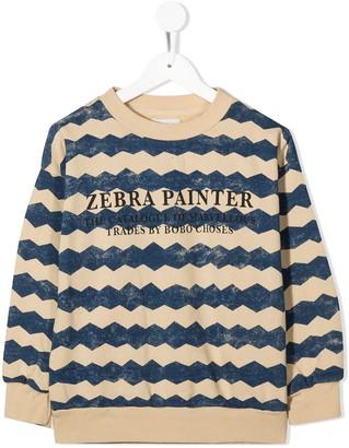 Bobo Choses Graphic Slogan Print Sweatshirt