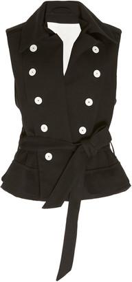 Ann Demeulemeester Tie-Waist Cotton And Linen Vest