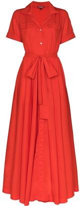 STAUD Millie tie-waist maxi dress