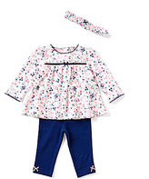 Little Me Baby Girls 3-12 Months Floral-Print Tunic & Solid Leggings Set