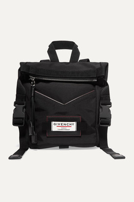 Givenchy Leather-trimmed Shell Backpack - Black