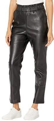 Joe's Jeans The Faux Leather Paperbag Pants (Jet Black) Women's Casual Pants