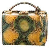 Mark Cross Small Snakeskin Grace Box Bag