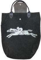 Longchamp Brown Velvet Handbag