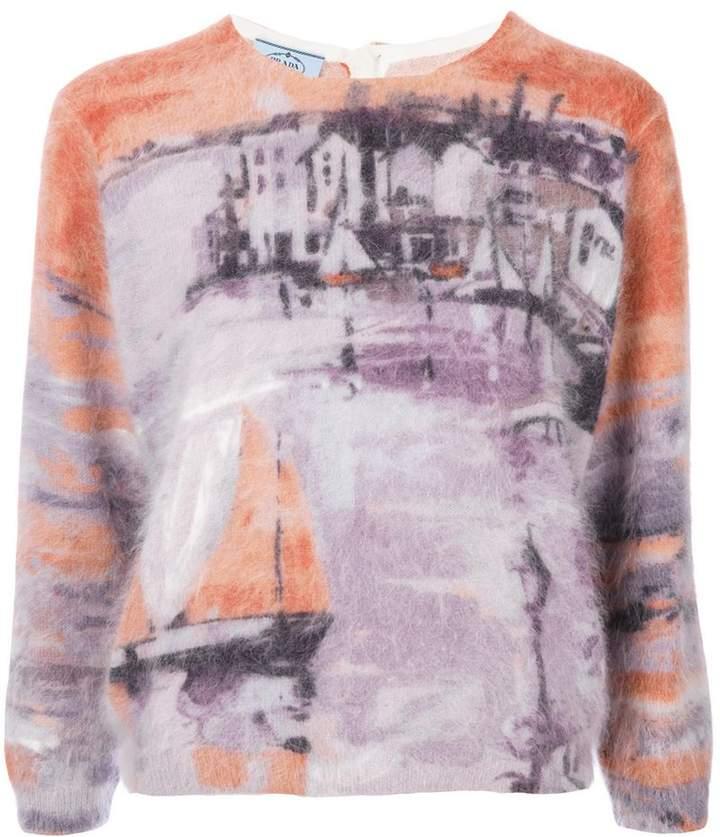 Prada sailing boat motif sweater