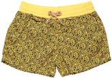 Floral Printed Cotton Poplin Swim Shorts