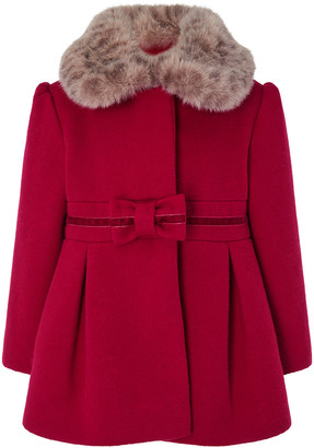 Under Armour Baby Bow Coat Red