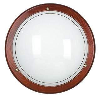 Fan Europe Ceiling Light with Wooden Frame, E27, 60 W, 40 x 40