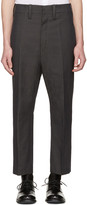 Ann Demeulemeester Grey Cropped Trousers