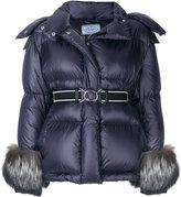 Prada padded fox fur jacket