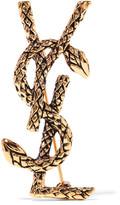 Saint Laurent Gold-tone Brooch - one size