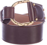 Alexander McQueen Leather Peg-In-Hole Belt
