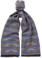 Missoni Virgin Wool Scarf - Blue