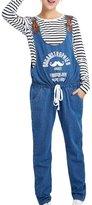 Panegy Pregnant Women Cotton Letters Pattern Jeans Overalls Suspender Long Maternity Pants XXL