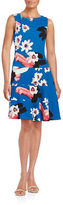 Ivanka Trump Floral Dropped-Waist Dress