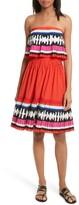 Kate Spade Women's Border Print Strapless Dress