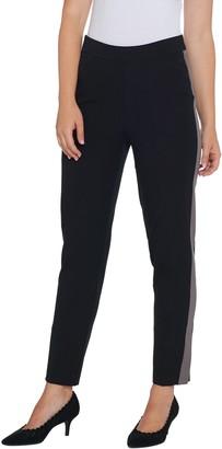 Isaac Mizrahi Live! Regular 24/7 Stretch Tuxedo Stripe Ankle Pants