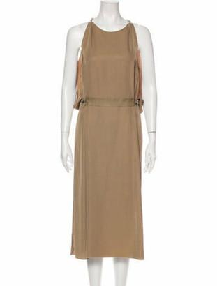 Lanvin Scoop Neck Midi Length Dress