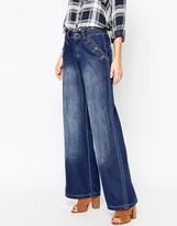 Vero Moda Button Front 70's Flared Jeans