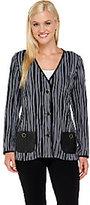 Bob Mackie Bob Mackie's Knit Striped Jacket
