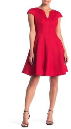 Julia Jordan Textured Cap Sleeve Fit & Flare Dress