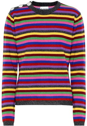 Ganni Striped cashmere sweater