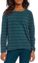 Eileen Fisher Striped Bateau Neck Top
