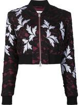 Self-Portrait floral print cropped bomber jacket